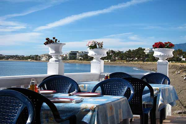 View from Victor's Restaurant on the Paseo Maritimo towards Puerto Banus